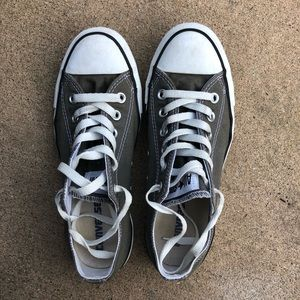 Dark gray converse gently used.